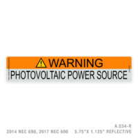 WARNING - 034  LABEL