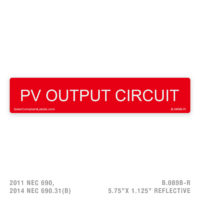 PV OUTPUT - 089 LABEL