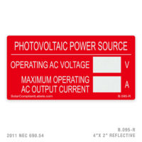 PV POWER - 095 LABEL